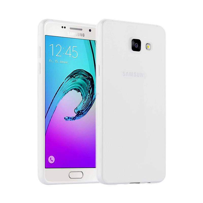 Lize Design Case Slim Anti Glare Silikon Casing for Samsung Galaxy A720 A7 2017 - Putih