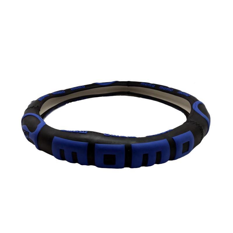 harga R4 Momo 3D Sarung Stir Mobil - Blue Blibli.com