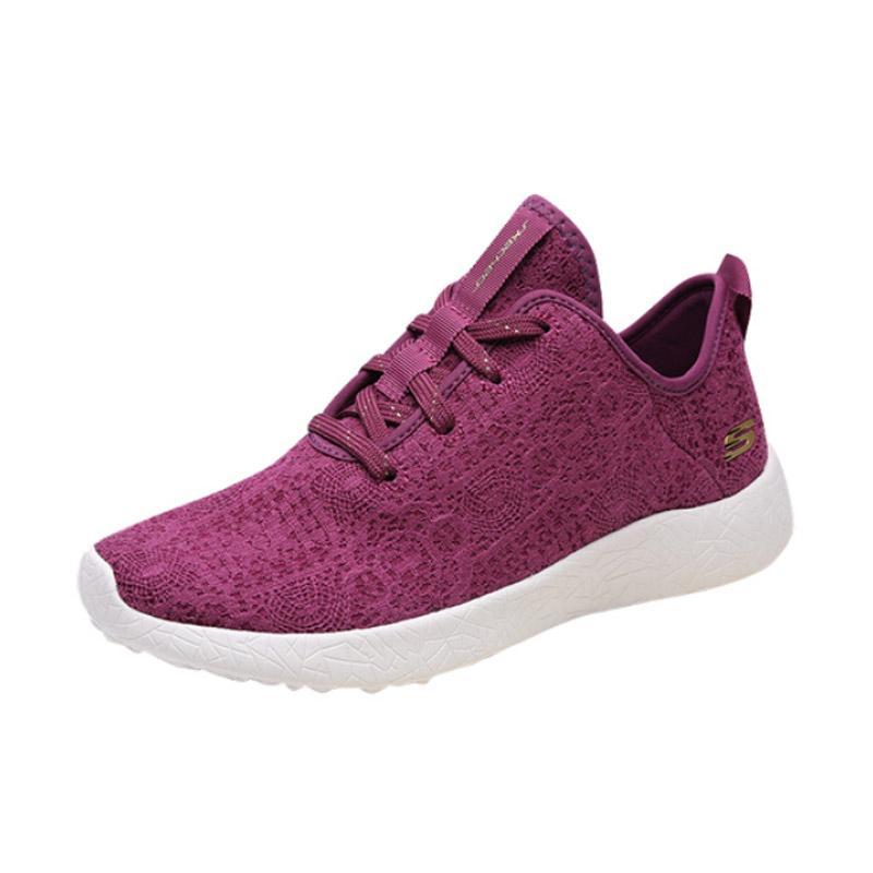 Skechers Sports Burst Lifestyle Sepatu Lari Wanita [12312BURG]