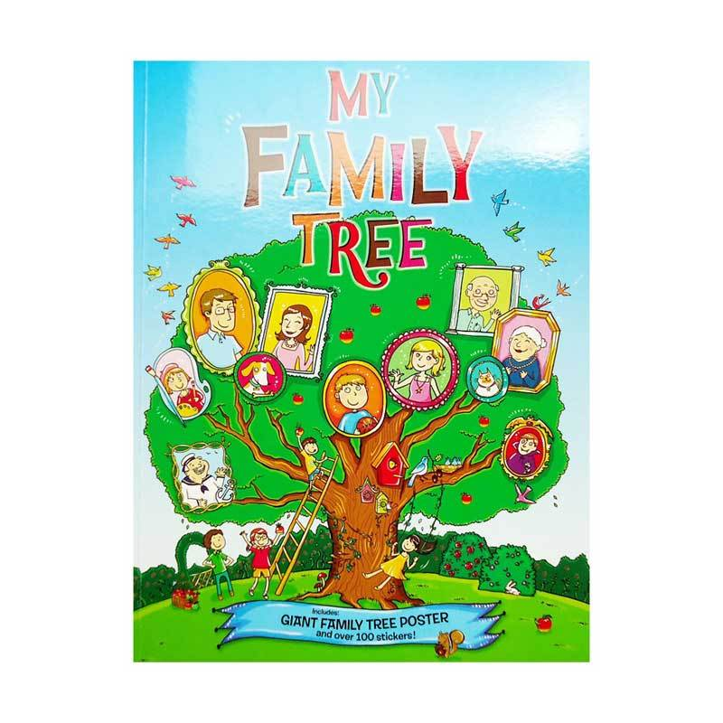 Genius My Family Tree Include Giant Family Tree Poster and Over 100 Stickers! Buku Edukasi Anak