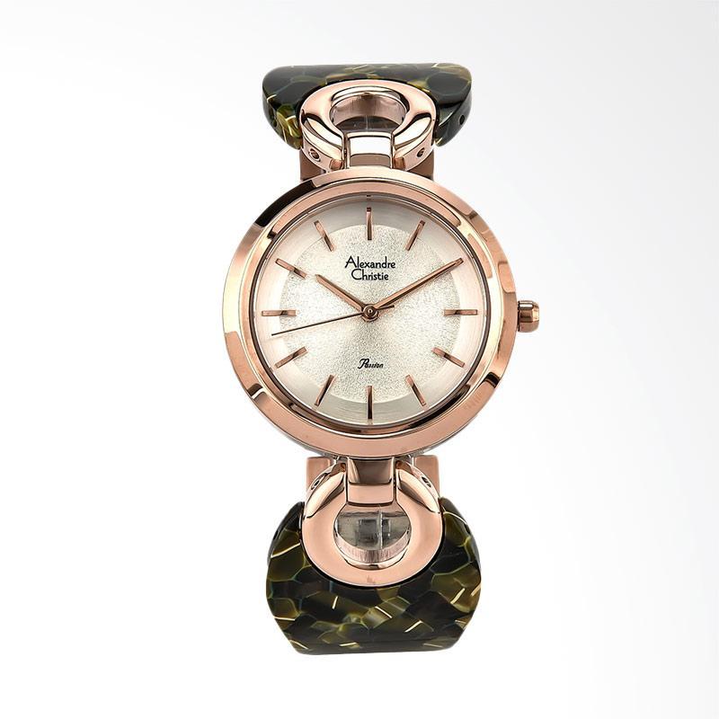 Alexandre Christie Ladies AC 2545 LH BRGSLGN Jam Tangan Wanita - Green Rose Gold