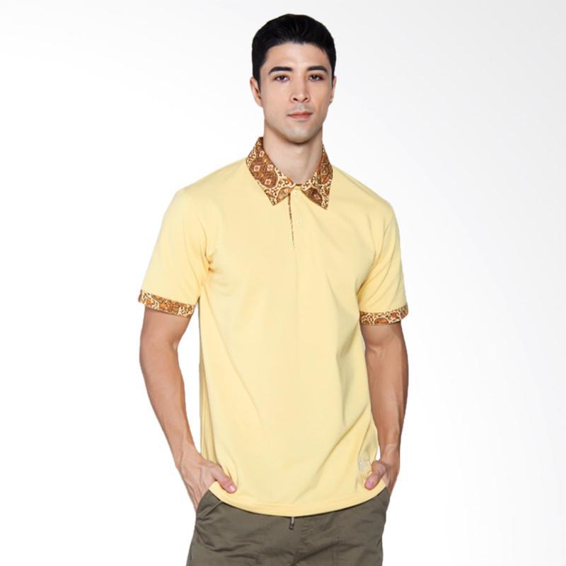 Batik Heritage Polo Batik Atasan Pria - Kuning