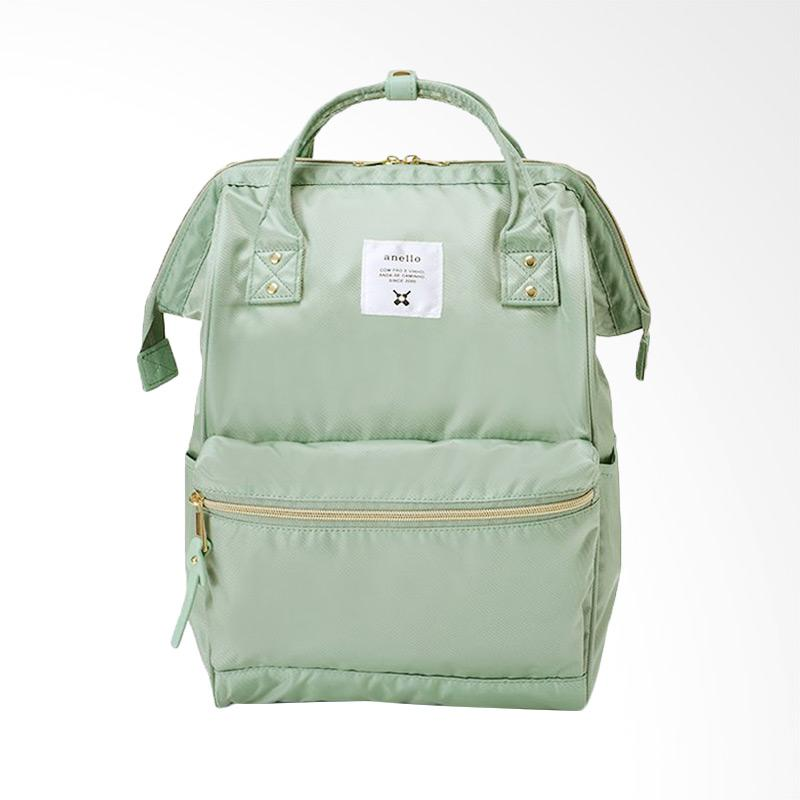 Anello Glossy Poly Twill Backpack Tas Ransel Casual Multifungsi - Mint Green