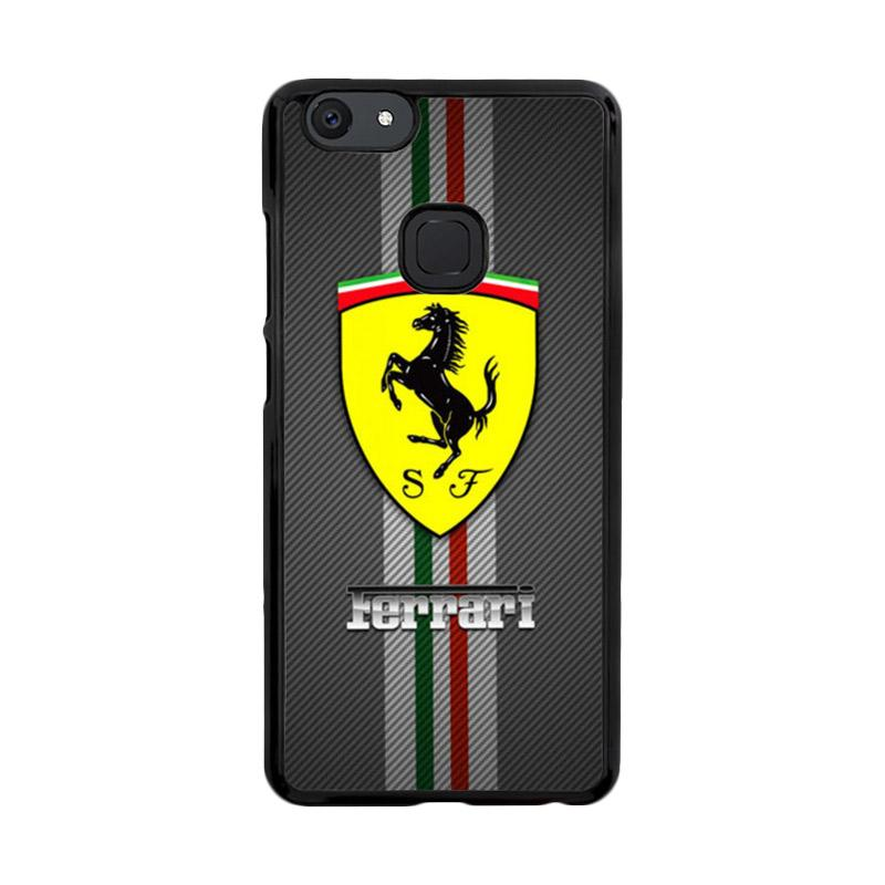 Flazzstore Texture Ferrari Black O0625 Custom Casing for Vivo V7