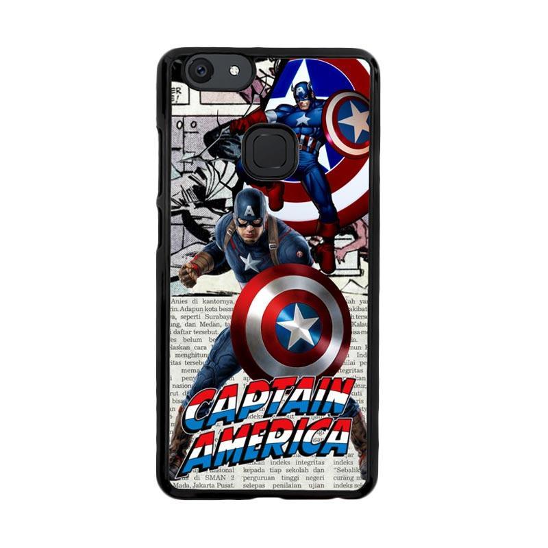 Flazzstore Captain America Marvel Dc Comics D0324 Custom Casing for Vivo V7