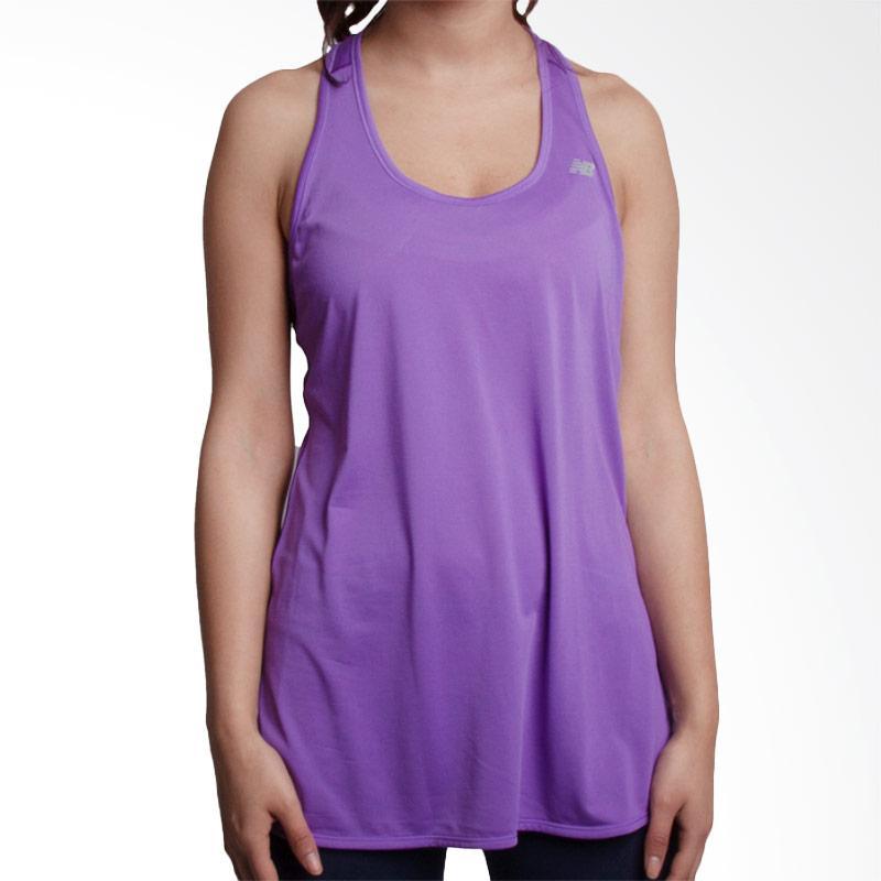 New Balance Accelerate Tunic Women Tanktop Baju Olahraga Wanita - Purple [WT53160V]