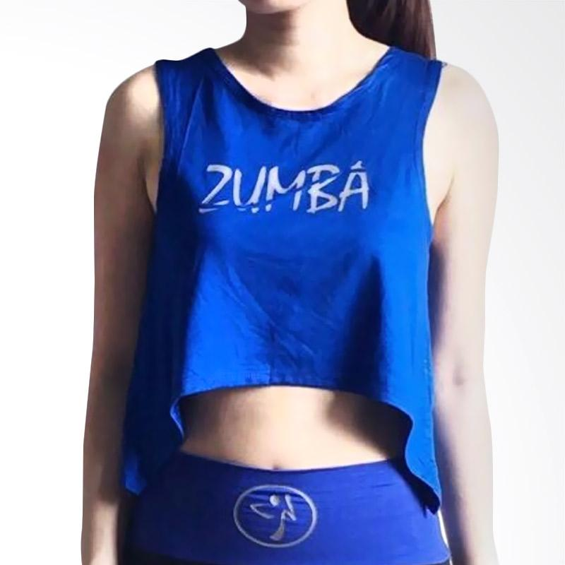Mom Zumba A-Tank Baju Senam Wanita - Blue