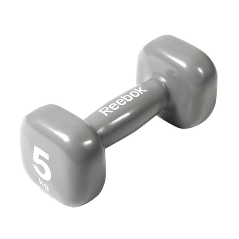 Reebok Dumbbel Peralatan Fitness - Grey [WT11155/5 kg]