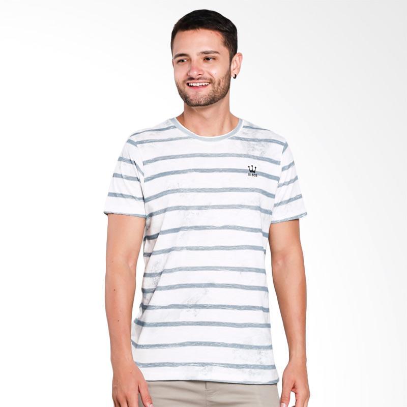 3SECOND 1609 T-Shirt Pria - Cream