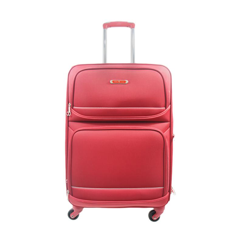 Traveltime TSA5183-01 The Secure Anti Theft Zipper Koper - Merah [22 Inch]