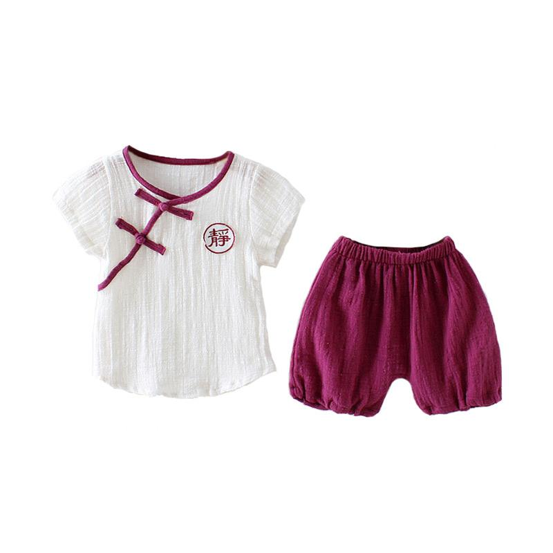 Abby Baby CNY Set Jumpsuit Anak - Red