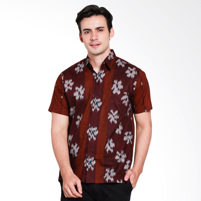 Batik Waskito Short Sleeve Cotton Batik Shirt Kemeja Pria