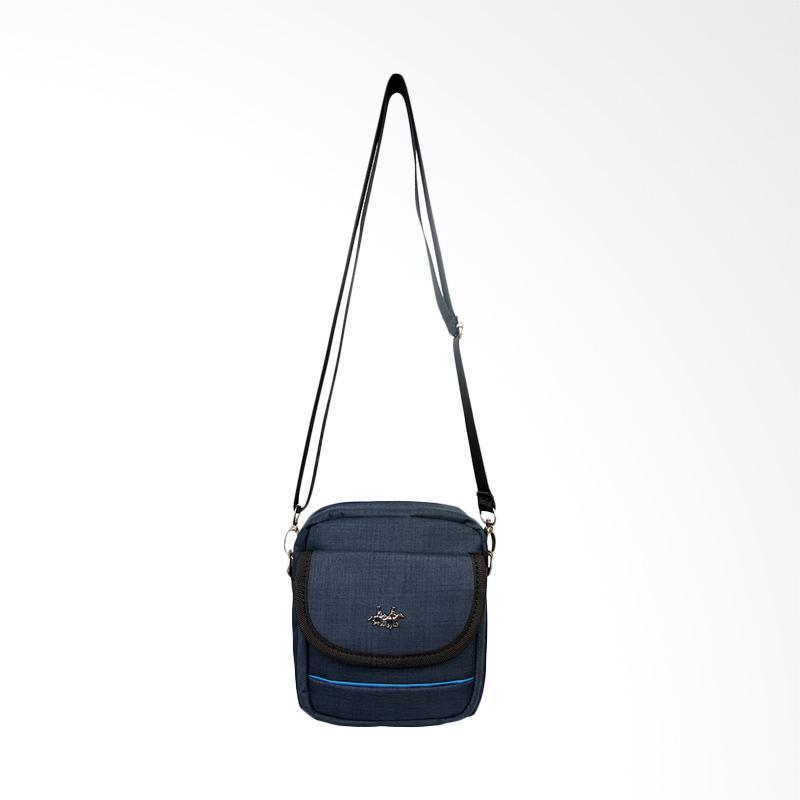 Polo Twin Shoulder Bag Tas Selempang Pria - Blue [135-06]