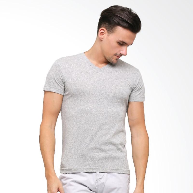 GT Man TVSM V Neck T shirt Pakaian Dalam Pria Grey