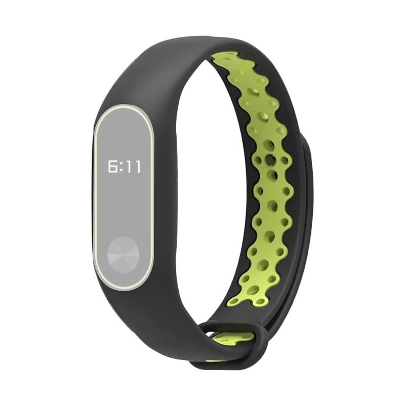 OEM Strap Sport for Xiaomi Mi Band 2 Oled Display - Black Green