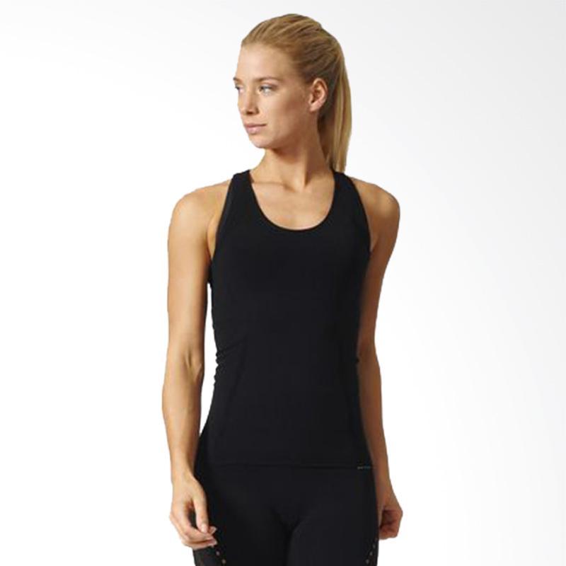 Adidas Workout Knit Women Tanktop Olahraga Wanita - Black [BK4502]