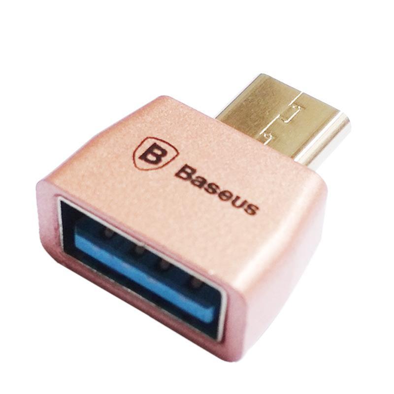 Baseus OTG BA-06 Type-C to Female USB - Rose Gold