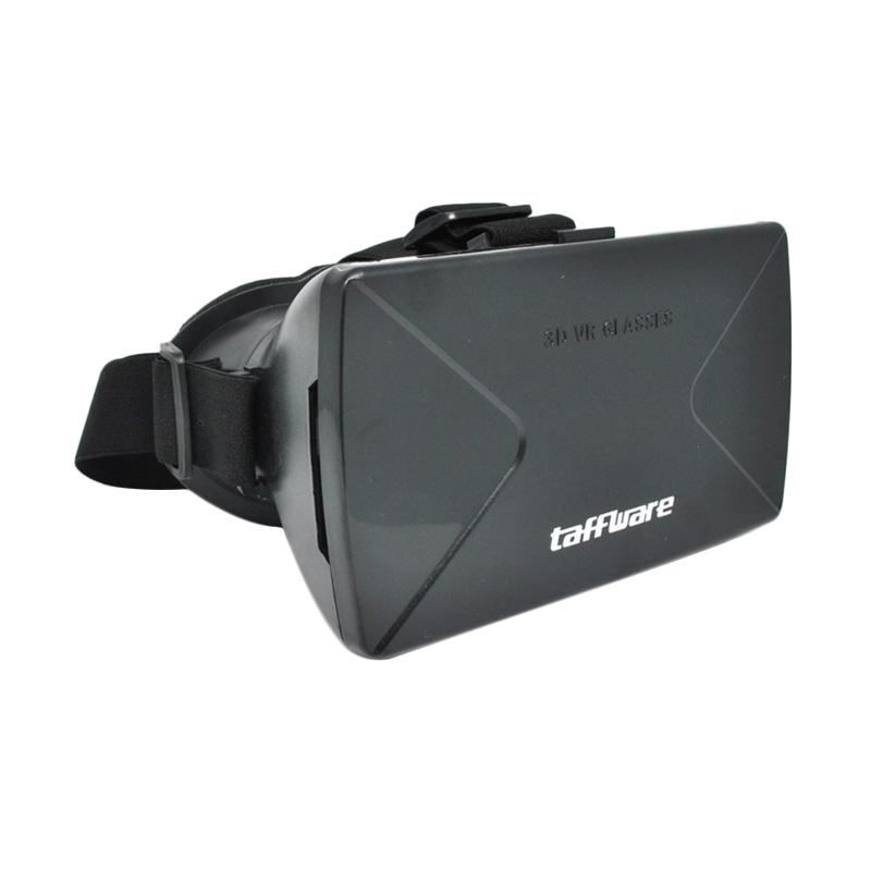 harga Taffware Cardboard Virtual Reality 3D Glasses Kacamata 3D for Smartphones & iOS Viewing Oculus Rift Glasses Head Mount Plastic Version VR Box - Hitam Blibli.com