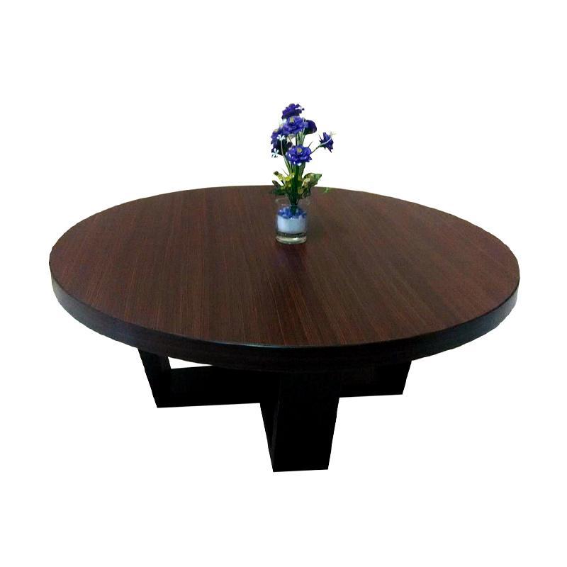 Evans Table Gallery Lesehan Unik Meja Bundar - Brown Mocha