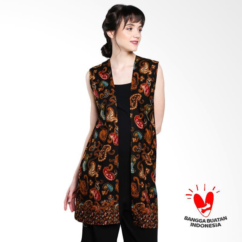 Serendipity Clothing Dark Night Straight Outter Luaran Batik Wanita - Black Green Red