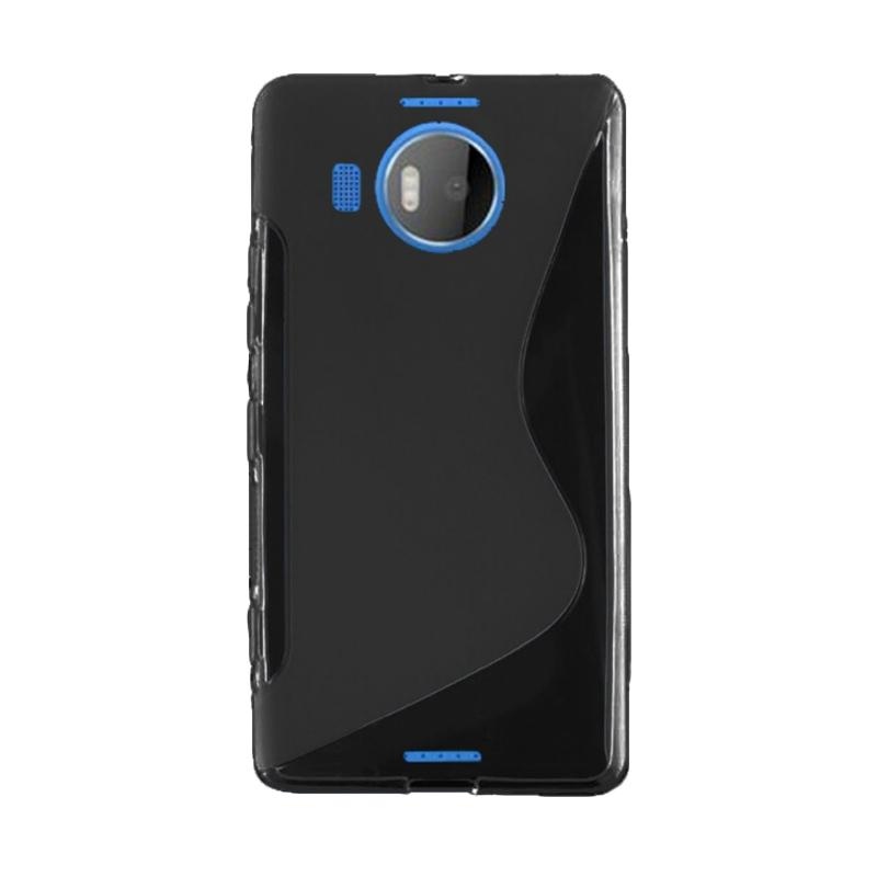 OEM Soft TPU Silicone Casing for Microsoft Lumia 950 XL - Solid Black