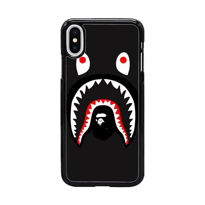 Acc Hp Bape Shark W4987 Custom Casing for iPhone X
