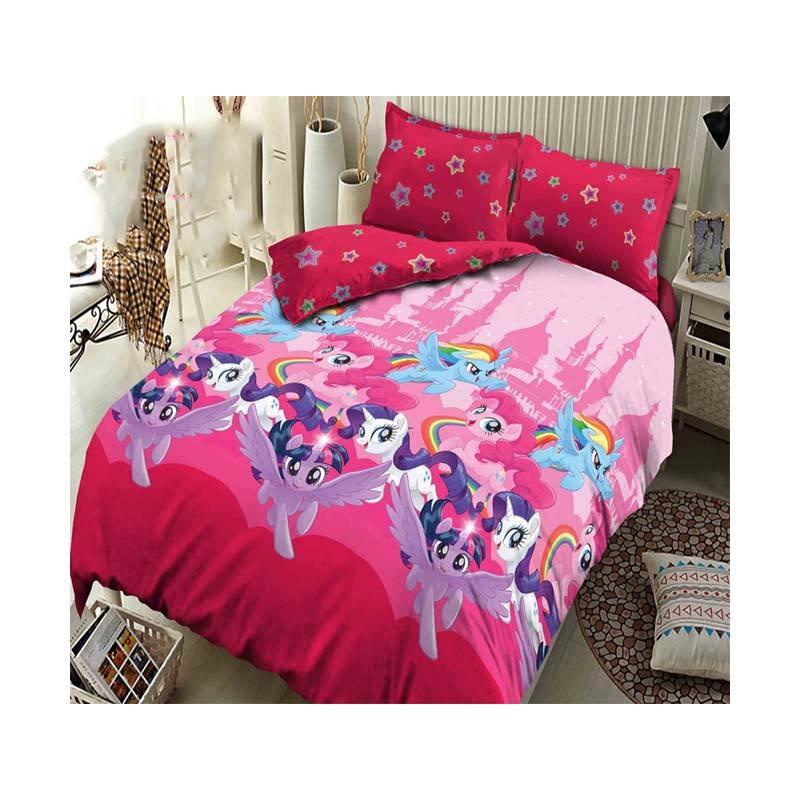 Kintakun Dluxe Kingdom Of Pony Set Sprei - Pink