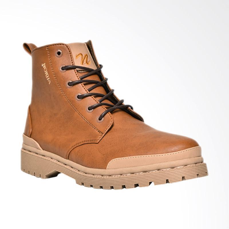 harga NOKHA Xander Sepatu Boots Wanita - Camel Blibli.com