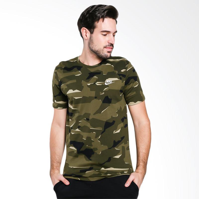 harga Nike Men Tee Camo Pack 1 Kaos Olahraga Pria [AJ6632-209] Blibli.com