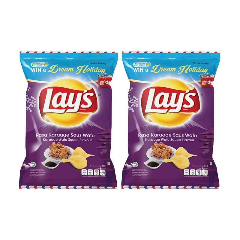 harga Groceries - Lays Karaage Wafu Sauce Snack [55 g/2 pcs] Blibli.com