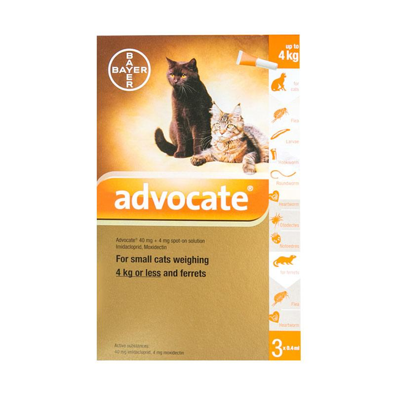 Advocate for Cat Size S up to 4kg Box Isi 3 Tube