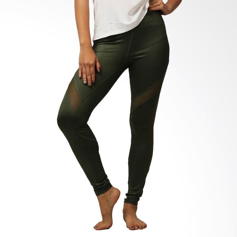 Jual Forever 21 Active Mesh Panel Legging Olive Green 09fl21001 Online Oktober 2020 Blibli Com