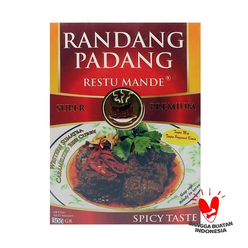 DIJAMIN MURAH Restu Mande Spicy Rendang Sapi Makanan 300 g