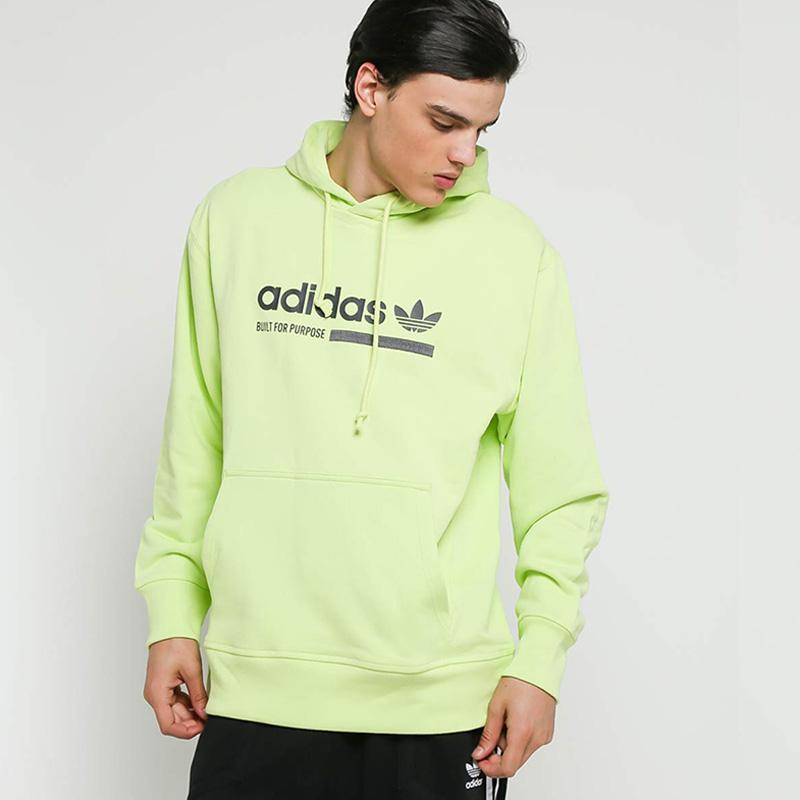 100% high quality outlet for sale wholesale adidas Originals Men Kaval Graphic Hoodie Pria - Semi Frozen Yellow [DV1955]
