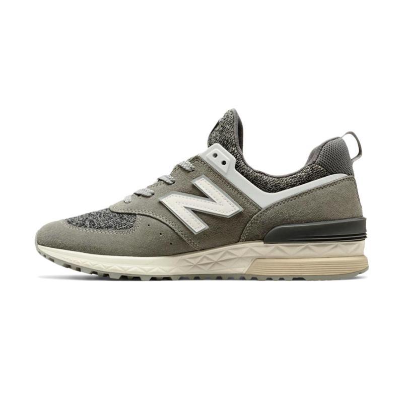 New Balance 574 Sport Men's Lifestyle Sepatu Sneakers Olahraga Pria - Gray [MS574BG]