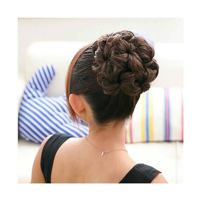 Bluelans Wavy Curly Synthetic Hair Bun Cover