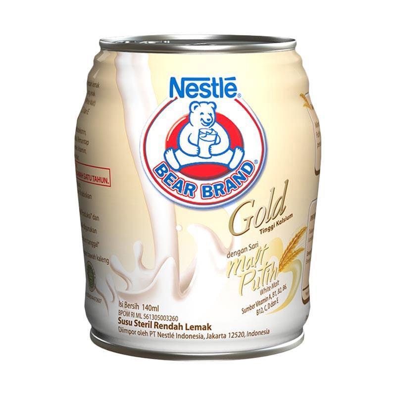 Jual Denpasar Bear Brand Gold White Malt Rtd 12040293 140 Ml Online April 2021 Blibli