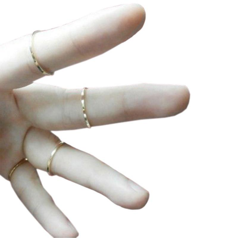 6 Pcs//Set Rings Gold Stack Cute Above Knuckle Ring Band Midi Ring Good Quality