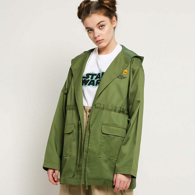 CottonInk Star Wars 10 13 Green Zara Outer Wanita Military