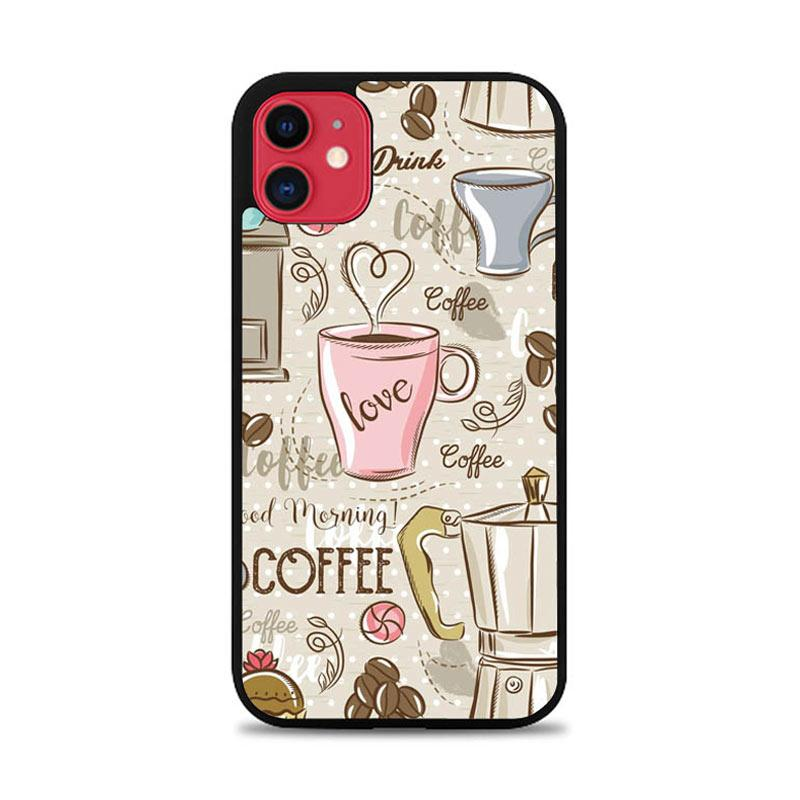 Casing Custom Hardcase Iphone 11 Coffee Wallpaper L0336 Case Cover