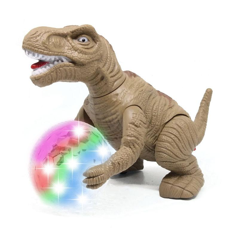 Jual Mainan Anak Dinosaurus T Rex Tyranosaurus Batere Operate Bisa Berjalan Lampu Dan Bersuara 328 2 Coklat Online November 2020 Blibli Com