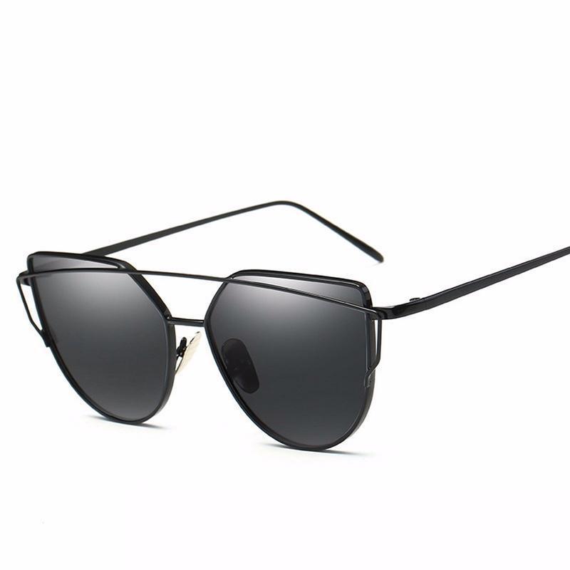 2020 Twin Beams Metal Frame Round Sunglasses Women Fashion Retro Eyewear UV400