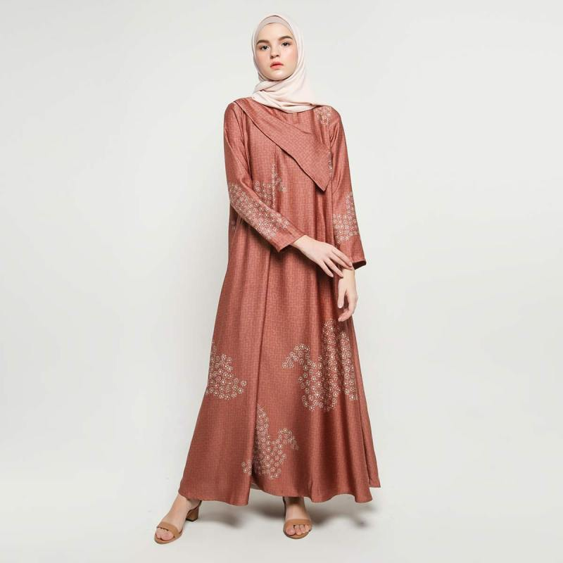 KAMI Yarra Bella Dress Muslim Wanita Rust