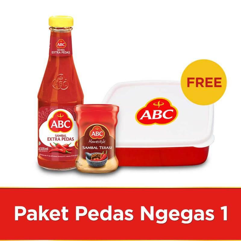 ABC Paket Pedas Ngegas 1 Free Lunch Box