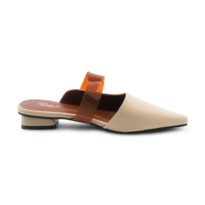 Ben Bella 233 21 Mules With PVC Strap Sepatu Wanita Beige