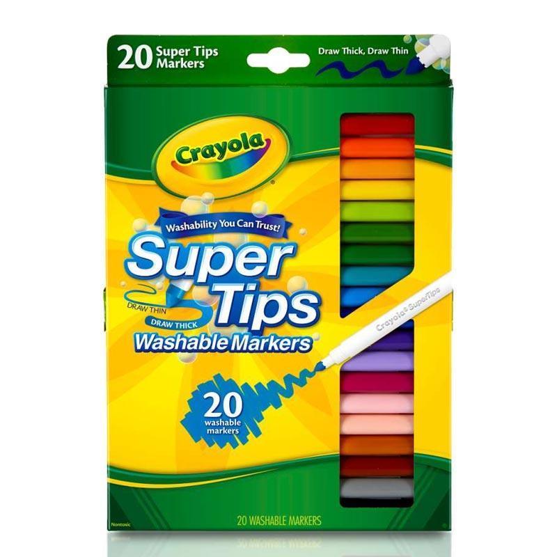 Crayola Super Tips Fine Line 5 Sl Sc Washable Markers 20 Ct