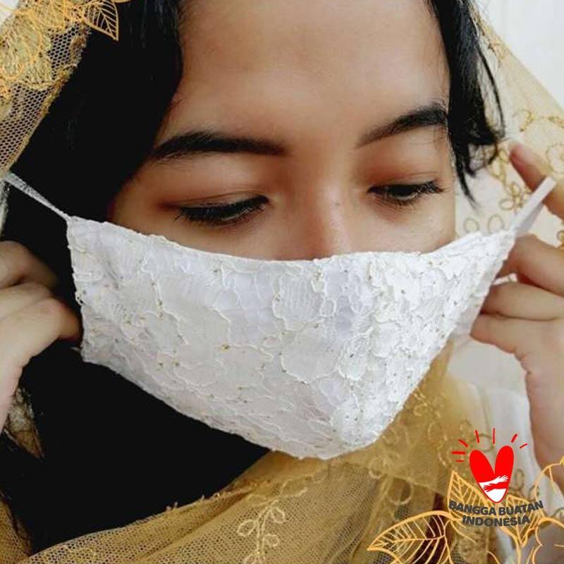 Precious One Lace Cloth Mask Masker Renda Dua Lapis