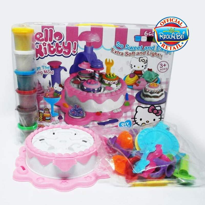 Jual Toy Studio Mainan Anak Masak Masak Hello Kitty Cake Kue Play Dough Playset Online November 2020 Blibli Com