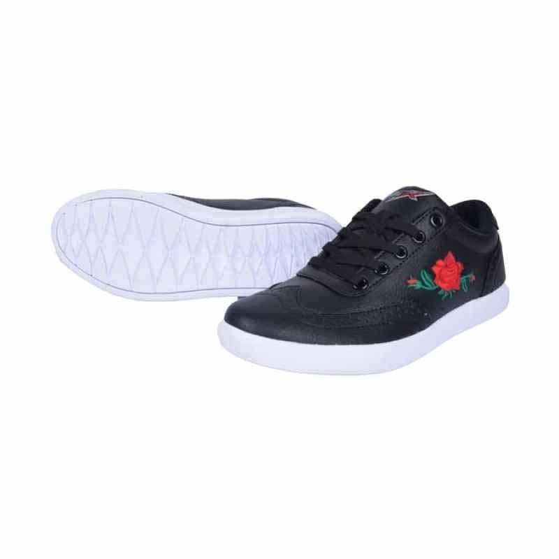 Jual Conae Queen Bunga Sepatu Casual Wanita Hitam Terbaru Juli 2021 Blibli