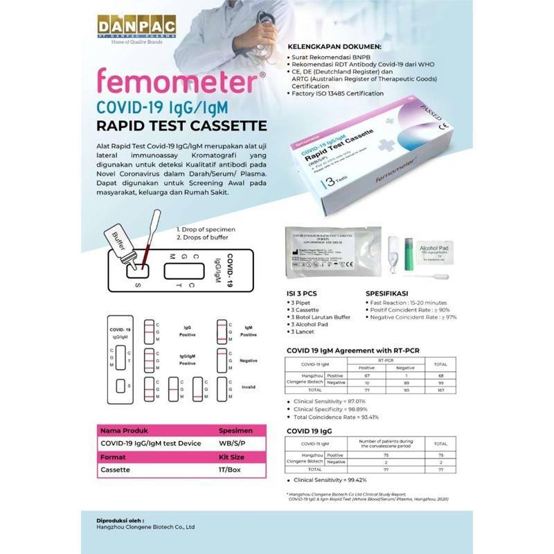 Jual Femometer Rapid Test Covid 19 Online Desember 2020 Blibli
